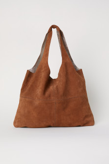 Grand sac shopping en daim