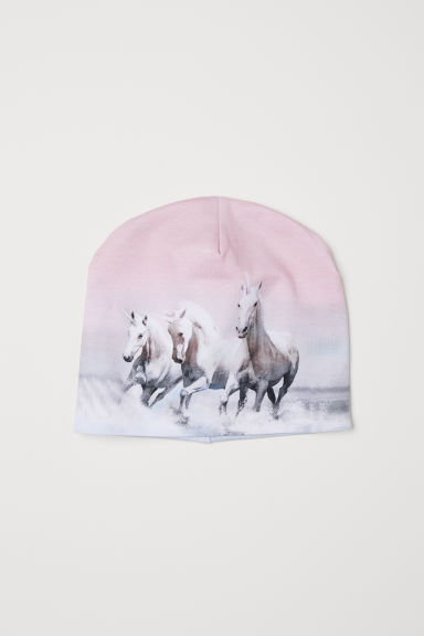 Jersey hat - Light pink/Unicorns - Kids | H&M GB