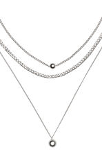 3-pack necklaces - Silver-coloured - Ladies | H&M GB 3