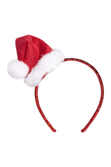 Alice band with a Santa hat
