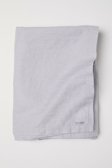 Nappe en lin lavé - Gris clair - Home All | H&M FR