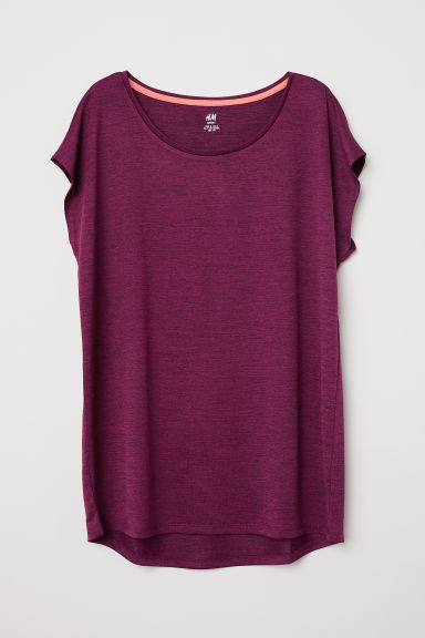 Sports top - Plum -  | H&M CN