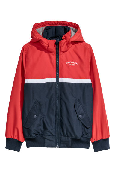 Hooded jacket - Red/Block coloured -  | H&M CN