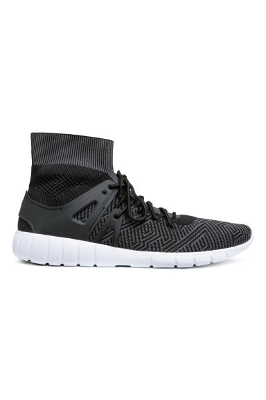 Fully-fashioned hi-tops - Black - Men | H&M
