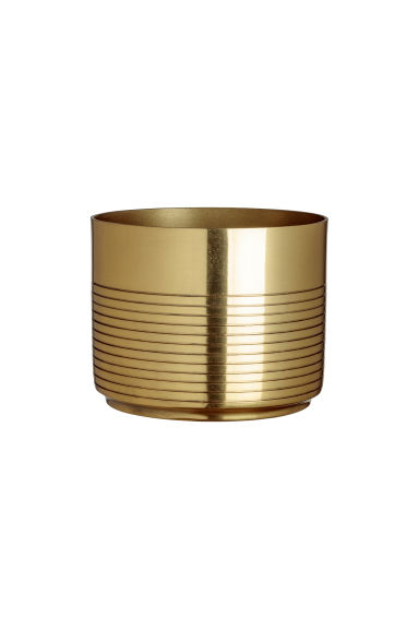 Metal plant pot - Gold-coloured - Home All | H&M GB