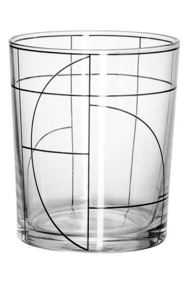 Patterned tumbler - Clear glass/Patterned - Home All | H&M IE