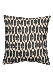Leaf-print cushion cover