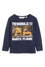2-pack jersey tops - Dark blue/Minions - Kids | H&M 2