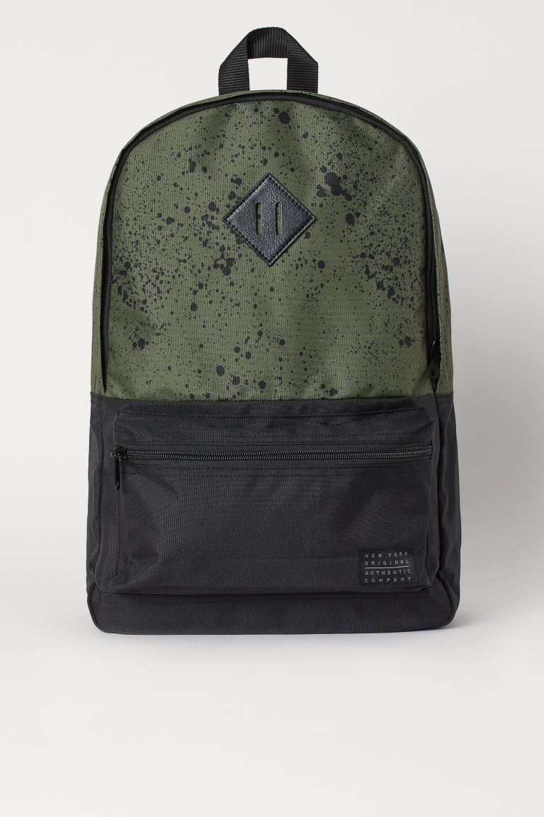 Backpack - Khaki green/Speckled - Kids | H&M GB