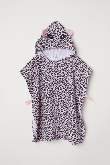 Towel poncho - Light pink/Leopard print - Kids | H&M CN