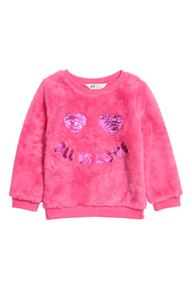 Fleece sweatshirt - Pink -  | H&M IE