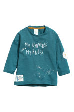 3-pack long-sleeved tops - Petrol - Kids | H&M CN 4