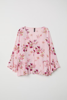 Blouse with Flounces