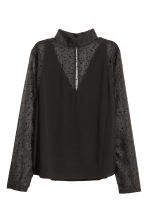 Patterned blouse - Black/Stars - Ladies | H&M IE 2