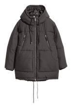 Padded parka with a hood - Black - Ladies | H&M IE 1