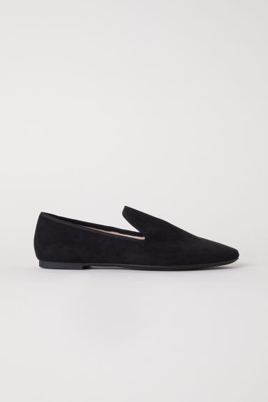 Loafers - Black/Imitation suede - Ladies | H&M GB