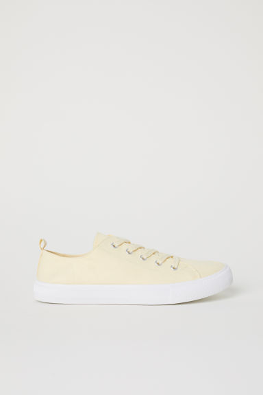 Twill trainers - Light yellow -  | H&M