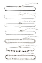 7-pack chokers - Silver-coloured - Ladies | H&M 1