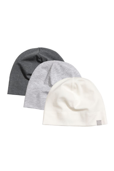 3-pack jersey hats - Natural white - Kids | H&M CN