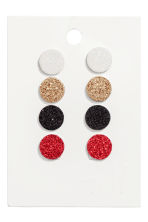 4 pairs earrings - Red/Gold-coloured - Ladies | H&M IE 1