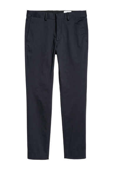 Cotton twill chinos - Dark blue -  | H&M