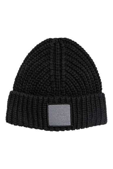 Knitted hat - Black - Ladies | H&M GB