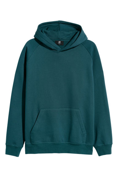 Hooded top Loose fit - Petrol -  | H&M
