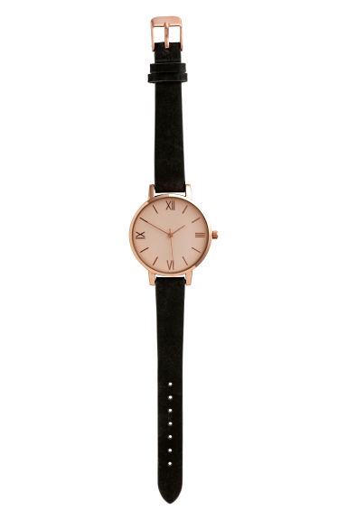 Watch with leather strap - Black - Ladies | H&M IE