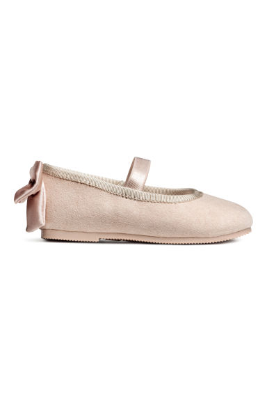 Ballet pumps - Powder beige/Imitation suede - Kids | H&M CN
