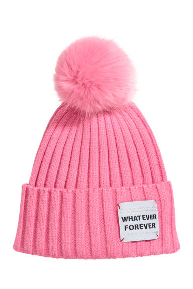 Rib-knit hat - Pink - Kids | H&M CN