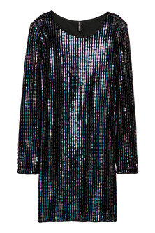 Robe en velours à paillettes