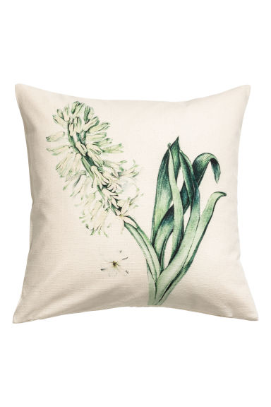 Print motif cushion cover - Light beige/Hyacinth -  | H&M GB