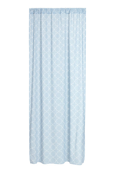 2-pack curtain lengths - Light blue/Patterned - Home All | H&M CN