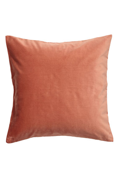 Cotton velvet cushion cover - Coral -  | H&M GB