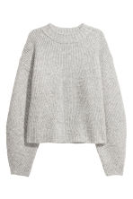 Knitted jumper - Light grey marl - Ladies | H&M CN 2