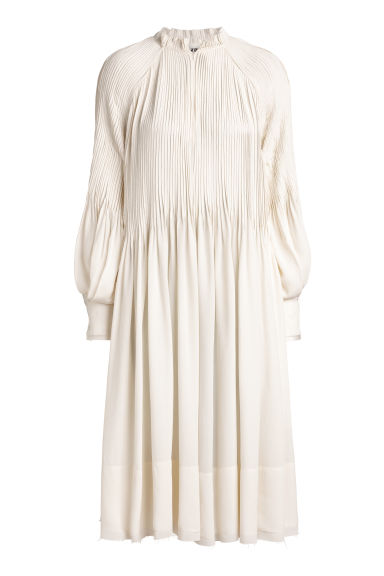 Crêpe dress - Natural white - Ladies | H&M CN