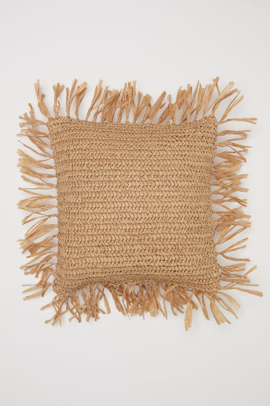 Braided cushion cover - Natural/Beige - Home All | H&M CN