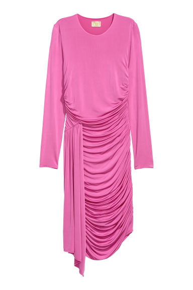 Draped dress - Pink - Ladies | H&M CN