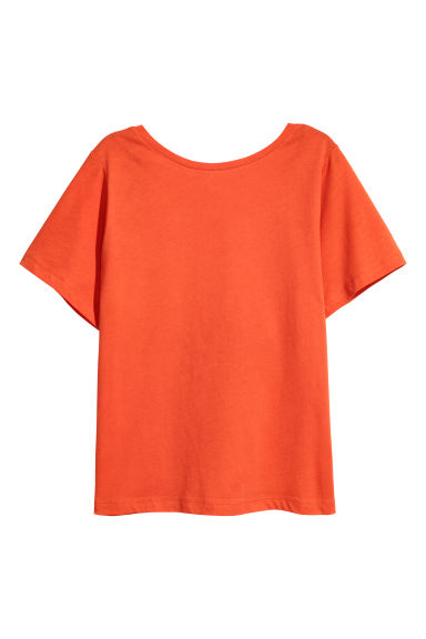 Top with a low back - Orange -  | H&M