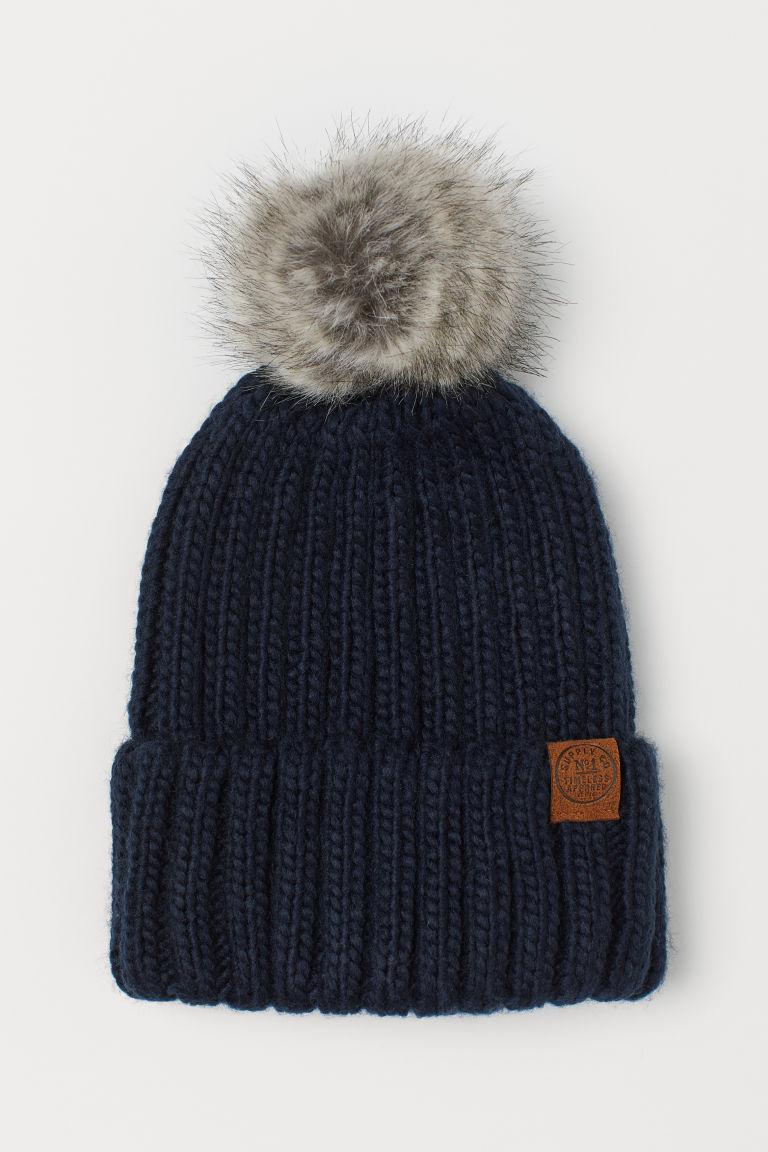 Ribbed hat - Dark blue - Kids | H&M GB