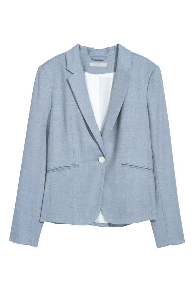Fitted jacket - Light blue -  | H&M GB