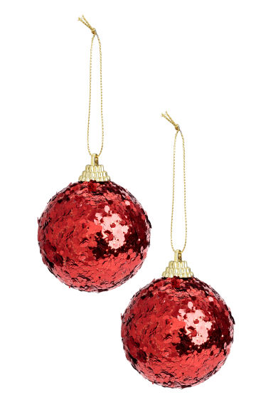2-pack Christmas tree baubles - Dark red - Home All | H&M GB