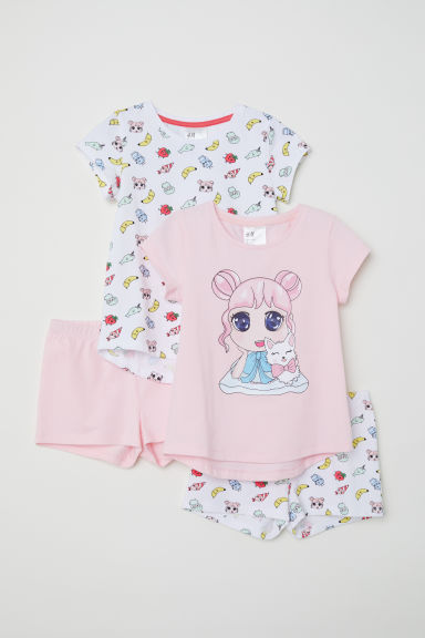 Pigiami in jersey, 2 pz - Rosa/fantasia - BAMBINO | H&M IT