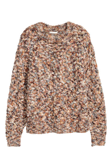 Wool-blend jumper - White/Camel -  | H&M