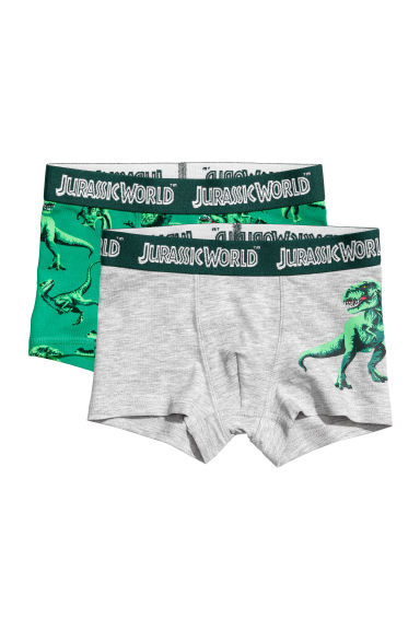 2-pack boxer shorts - Green/Jurassic World - Kids | H&M CN