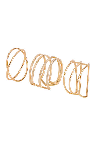 3-pack rings - Gold-coloured - Ladies | H&M GB