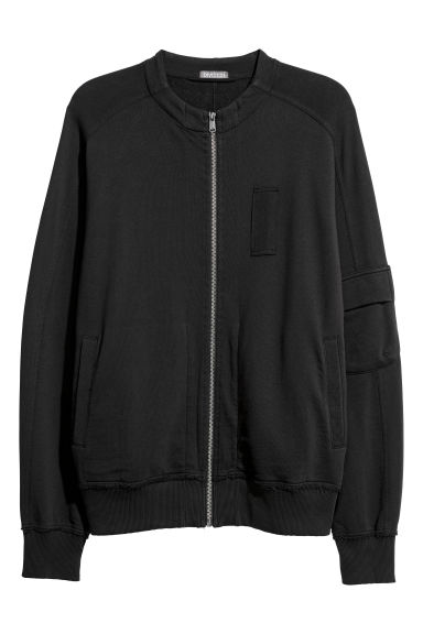 Sweatshirt cardigan - Black - Men | H&M IE