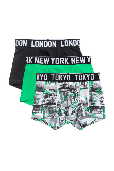 3-pack boxer shorts - Green/Town - Kids | H&M 1