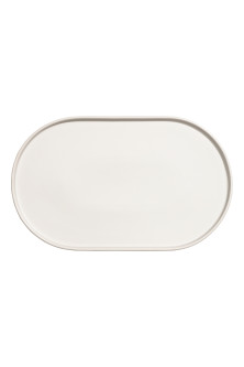 Large stoneware serving tray