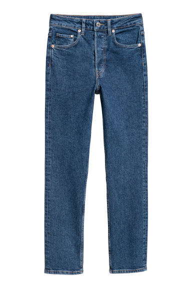 Vintage Slim Ankle Jeans - Dark denim blue -  | H&M IE